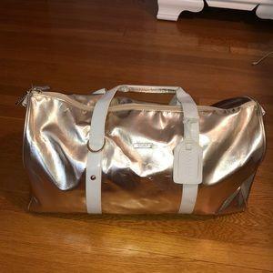 Versace gold duffel bag